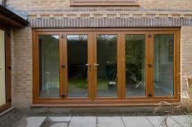 bi folding doors golden oak