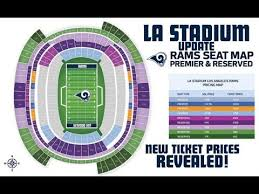 Chargers Stadium Seating Chart Rams La Stadium Update Ticket Prices Revealed Seat License Fees For 2020