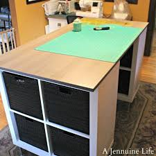 counter height craft table her version was waay er than any ready made version i d found so i plotted my trip to ikea to follow in her footsteps