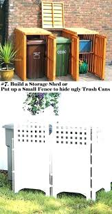 Image Fence Garbage Can Storage Ideas Garbage Can Storage Ideas Indoor Decorative Kitchen Cans Wood Trash Bin Outside Thebigbreakco Garbage Can Storage Ideas Trash Bin Storage Wood Garbage Shed Trash