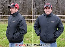 gerbing microwire heated jacket liner review webbikeworld gerbing s microwire heated jacket liner on rider