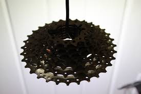recycled lighting fixtures. Recycled Bike Gears Light Bicycle Fixture Lighting Fixtures