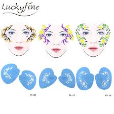 reusable soft face painting stencils paint stencil template eye makeup model party stencils for painting