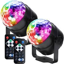 Party Lights Disco Ball Led Strobe Lights Sound Activated Rbg Disco Lights Dj Lights Portable 7 Modes Stage Light For Home Room Dance Parties