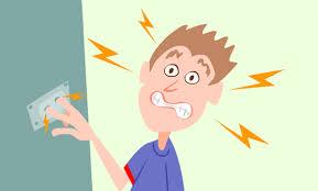Resultado de imagem para imagens de uma criança levando choque desenho
