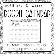 Editable 2020 Monthly Calendar 2019 2020 Monthly Calendar