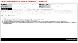 Marine Chief Engineer Offshore And Onshore As Tech Job
