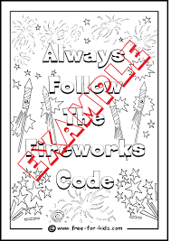 Small Picture Bonfire Night and Fireworks Colouring Pages