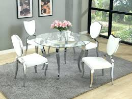 glass table dining set glass dining room table sets large size of dining room silver round glass table dining