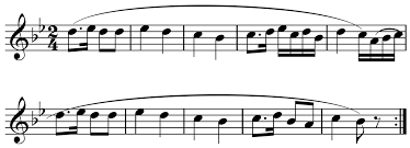 I took piano for many years, but i don't think i've ever come across a notation that indicates a phrase played more than 2x. Phrase Music Wikipedia
