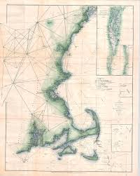 Cape Cod Chart 1873 Us Coast Survey Chart Of Map Of Cape Cod Nantucket Marthas Vineyard And Cape Ann By Paul Fearn