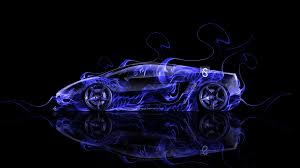 lamborghini gallardo side fire abstract car