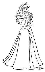 Small Picture Princess Aurora Count Her Luck in Sleeping Beauty Coloring Page