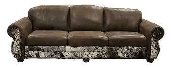 waltz smooth brown cowhide sofa