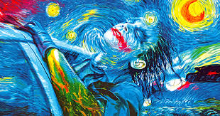 famous paintings turned into batman pop art