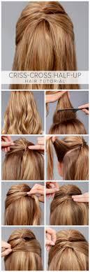 Half Ponytail Hairstyles What The Hair Half Up Hair Tutorial Tutorials