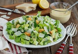 classic caesar salad recipe. Unique Salad Romaine Lettuce Dressed With Creamy Caesar Dressing In A White Bowl Over  Red Striped Towel Throughout Classic Salad Recipe