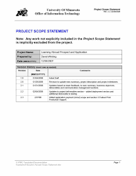 Template Of Statement 008 Project Scope Example Template Ideas Statement Of Work