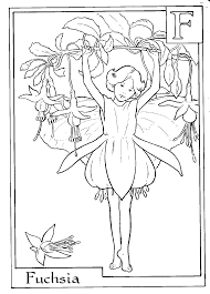 Flower Fairy Coloring Pages Fairies Umcubed Org Free Printable