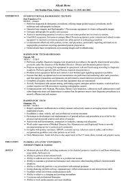 X Ray Tech Resume Radiologic Tech Resume Samples Velvet Jobs 22