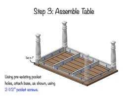 Kitchen Table Plan Diy Farmhouse Table Free Plans Rogue Engineer