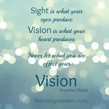 Quotes About Vision Beauteous Quotes About Vision 48 Quotes