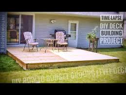 diy deck time lapse building a ground