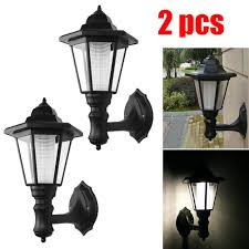White Solar Lights Outdoor Details About Waterproof Wall Mount Solar Lights Outdoor Pathway Gate Bright White Lamp 2pcs