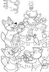 Раскраска новый год ёлка
