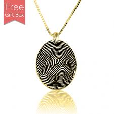 personalized gold plated fingerprint necklace