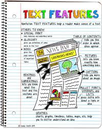 Text Features Anchor Chart Nonfiction Text Features Anchor Chart