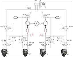 chery m m Система курсовой устойчивости М Принципиальная схема гидравлического контура системы курсовой устойчивости