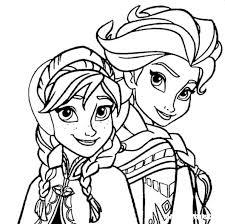 Elsa Anna Frozen Kleurplaat Jouwkleurplaten