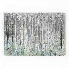 watercolour woods printed canvas wall art  on navy blue and teal wall art with blue wall art blue canvas art navy teal