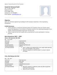 Mechanical Engineering Resume Format Resume Peppapp