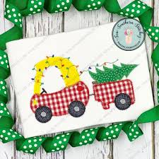 Christmas Lights Applique Zig Zag Cozy Coupe Car With Christmas Lights And Tree Applique Girls And Boys Toy Car Instant Download