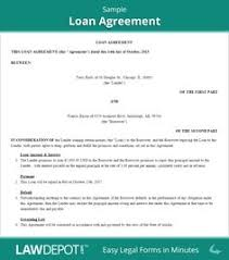 short bio sample that will teach you how to put all the relevant  sample loan agreement