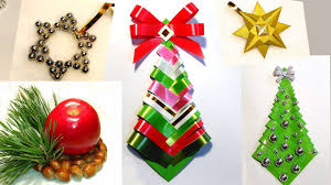Paper Christmas Tree Ornaments Easy Diy Christmas Tree Paper Christmas Tree Ribbon Christmas