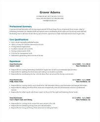Bartending Resume Amazing Free Bartender Resume Templates Bartender Resume Template 28 Free In