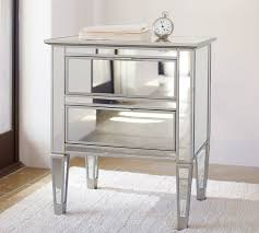 Mirrored bedside furniture Next Pottery Barn Park Mirrored Nightstand Pottery Barn