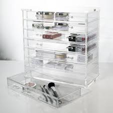 Clear Acrylic Makeup Organizer Chest