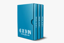 6 x 9 3 book box set mockup template 6 x 9 stacked paperback