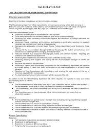 Housekeeper Resume Housekeepers Resume Housekeeping Responsibilities Sample Samples 47