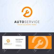 Logo And Business Card Template Layout For Auto Service Repair