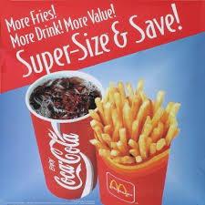 mcdonalds supersize meal. Plain Meal McDonalds When Super Size Was Still An Option For Mcdonalds Supersize Meal P