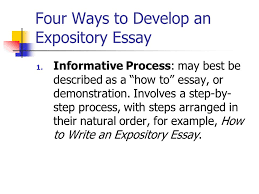 in class writing what is your expository essay topic look over four ways to develop an expository essay 1