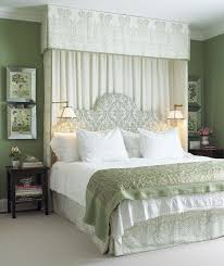 traditional bedroom ideas green. Beautiful Green Curtainheadboard Idea  Would Cut Down On The Light In Morning Intended Traditional Bedroom Ideas Green