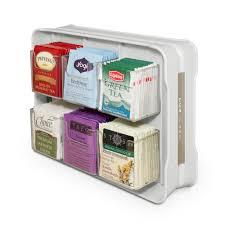 Tea Bag Display Stand YouCopia TeaStand 100 Tea Bag Organizer100100WHT The Home Depot 6