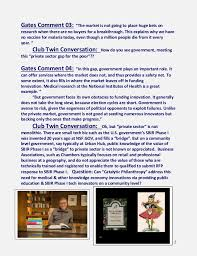 club twin review catalytic philanthropy bill gates essay 2 2 gates