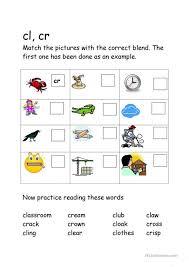 Kindergarten Blending Worksheets - Criabooks : Criabooks
